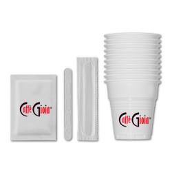 Caffe Gioia Чаши, бъркалки и захар /комплект/ по 150 бр. Аксесоари