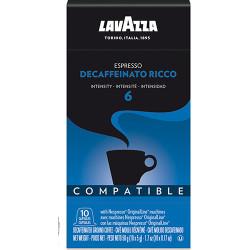 Lavazza Decaffeinato Ricco Nespresso система 10 бр. Кафе капсули
