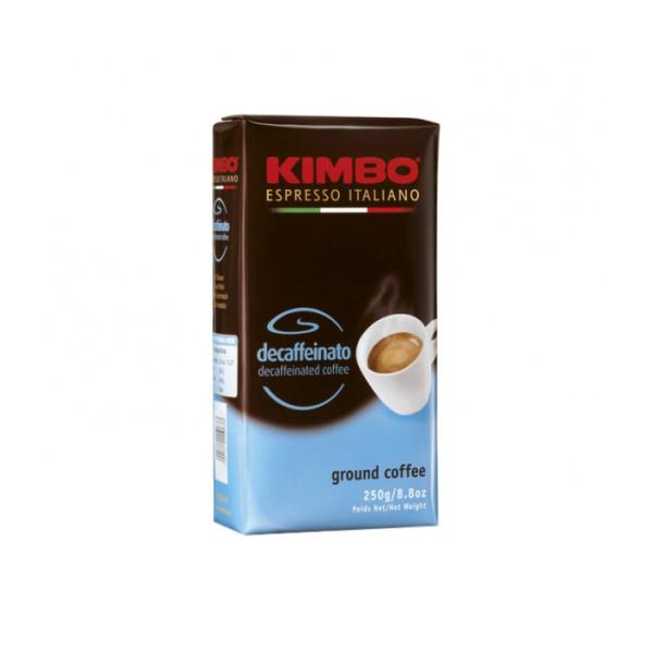 Безкофеиново мляно кафе Kimbo Decaffeinato 0,250 кг. на топ цена в CodCaffee.com