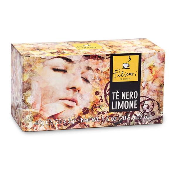Чай на пакетчета Te Nero Limone 20 пакетчета ТОП цена | Cod Caffee
