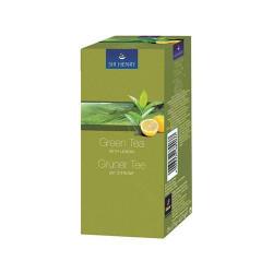 Sir Henry Зелен чай с лимон 25 бр. Пакетчета чай